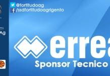 Erreà sponsor tecnico Agrigento