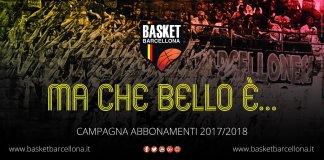 Campagna abbonamenti Basket Barcellona