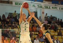 Alessandra Formica al tiro contro Ivana Tikvic