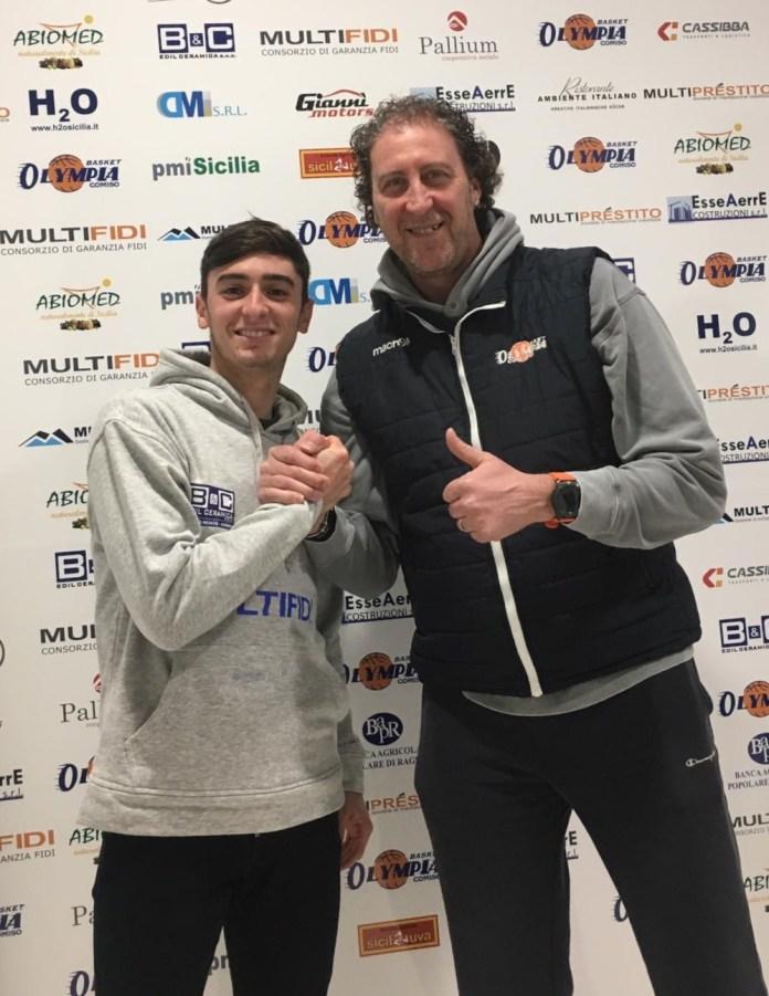 Giovanni Occhipinti con il coach Davide Ceccato