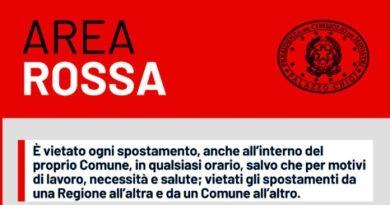 Dal pomeriggio di oggi cessano le zone rosse in Sicilia