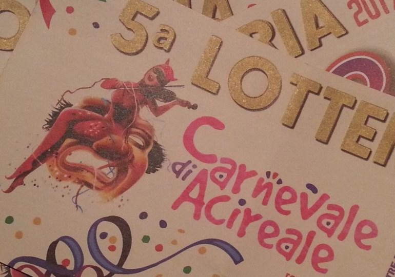 Estratti i premi della Lotteria del Carnevale: ha vinto tutta Acireale