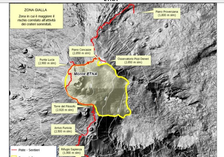 Etna, un nuovo avviso della Protezione Civile Regionale per eventi vulcanici
