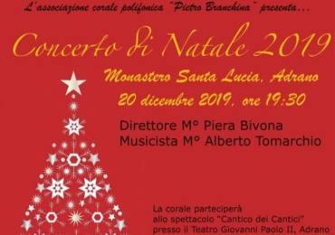 Adrano, concerto natalizio della corale Pietro Branchina al monastero di Santa Lucia