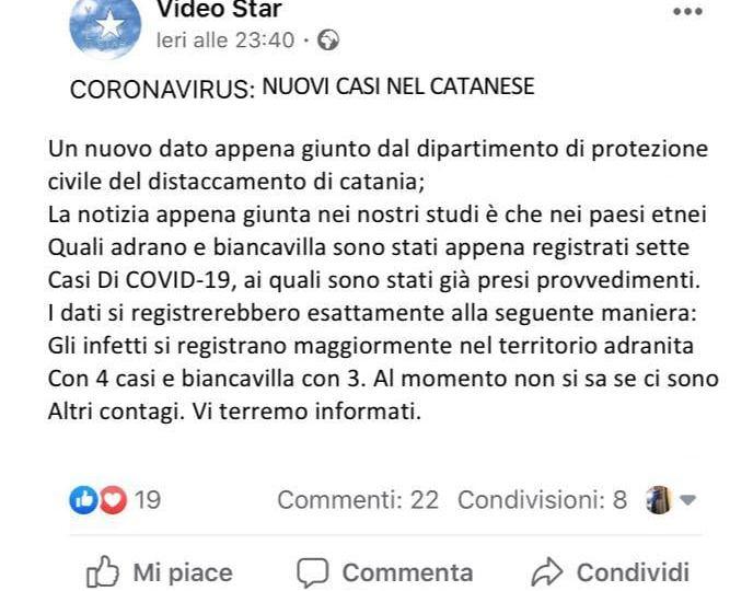 Biancavilla, falsa giornalista diffonde il virus del panico: denunciata