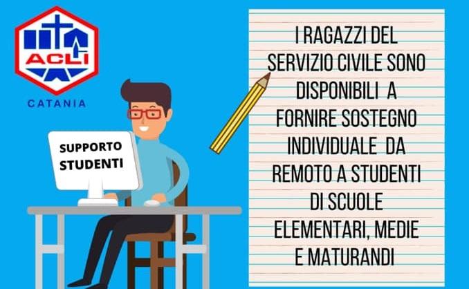 Servizio civile Acli Catania, supporto a distanza per famiglie e studenti