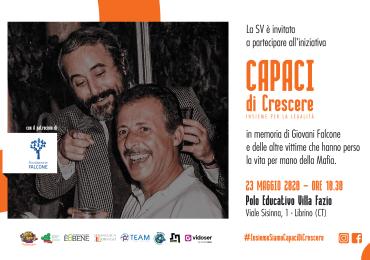 """Contro le Mafie, il 23 maggio in diretta web la sesta edizione di """"Capaci di crescere"""""""