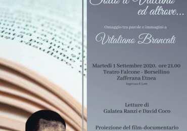 """Omaggio di """"Etna in Scena"""" a Vitaliano Brancati a Zafferana Etnea"""