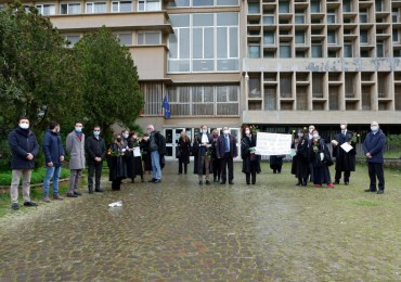 La protesta dei magistrati onorari