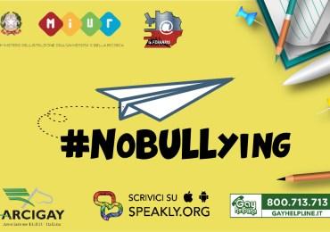 """""""No Bullying"""": anche Catania entra nella rete civica contro il cyberbullismo promossa da ministero dell'Istruzione, Gay Center e sedici comitati Arcigay"""