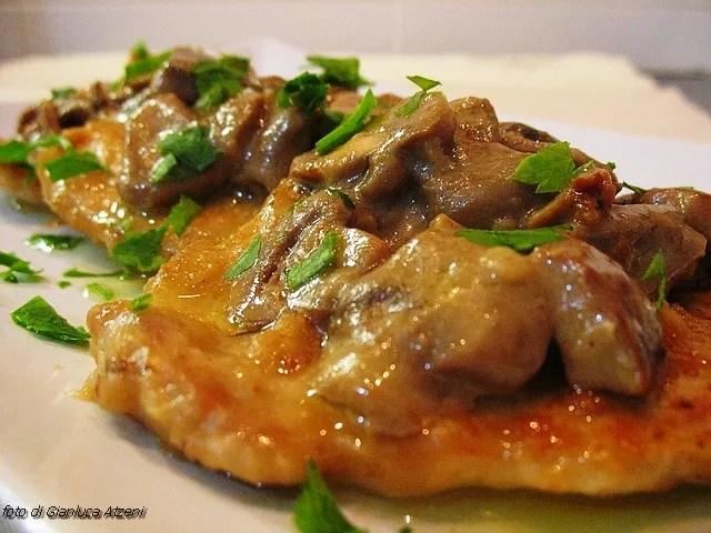Pork Escalopes with mushrooms