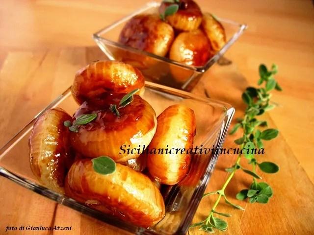 Cipolle in agrodolce di aceto balsamico di lamponi