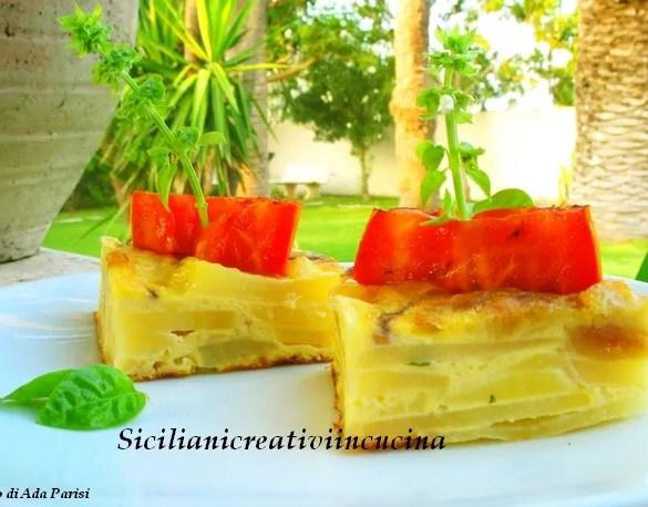Tortillla di patate con pomodoro alla griglia
