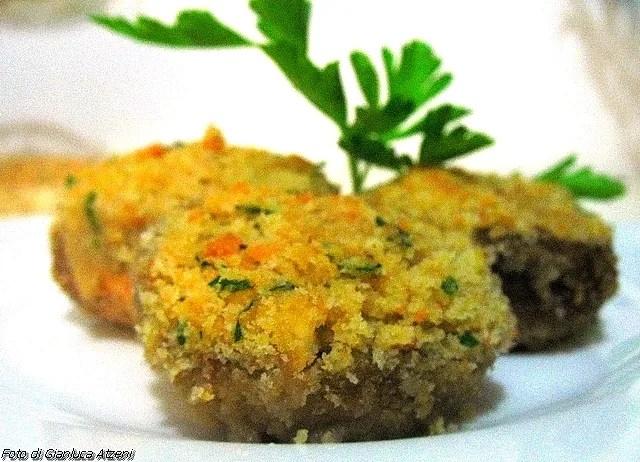 Gefüllte Champignons Vegetarier