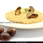 Risotto with chestnuts, porcini mushrooms, Truffle