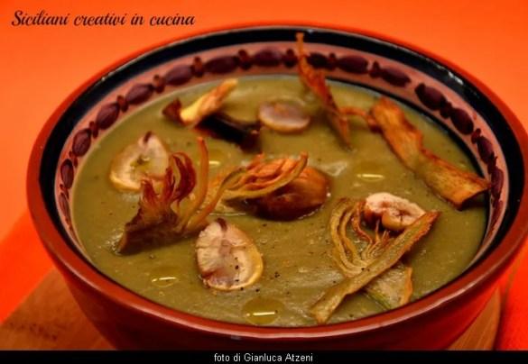 Crema vegana di carciofi e patate