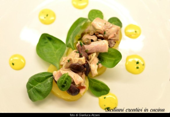 Coniglio all'insalata con maionese al lime