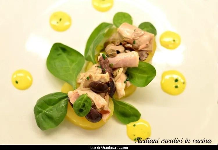 Coniglio all'insalata con maionese al lime