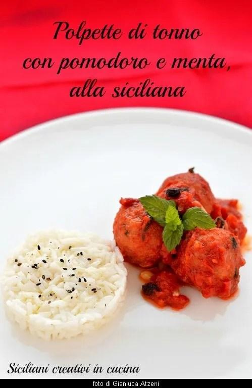 Sizilianische Tomatenthunfisch-Fleischbällchen