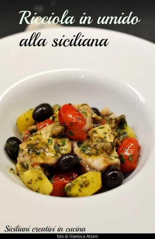 Stewed amberjack alla siciliana