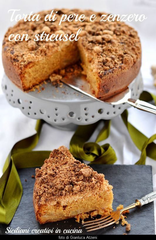 Streusel cake with pears and ginger, refined and delicious: with video recipe step by step