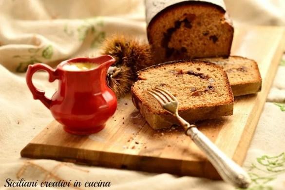 Pane dolce con farina di castagne, cioccolato e uvetta