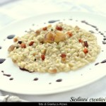 Risotto with leeks and chestnuts