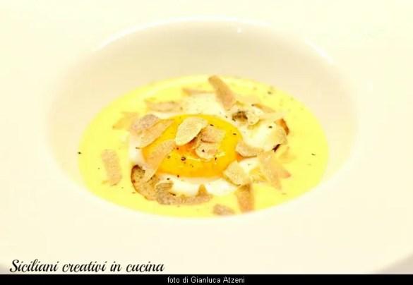 Uovo, fonduta e tartufo d'Alba