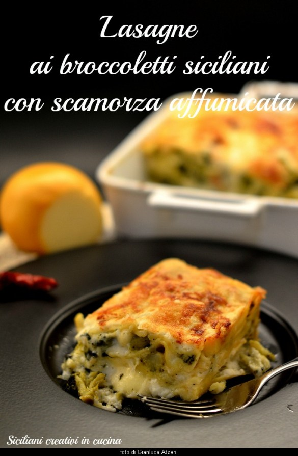 Creamy and vegetarian, white lasagna with broccoli and smoked cheese are perfect for the holiday menu