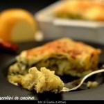 Lasagna with broccoli and smoked cheese
