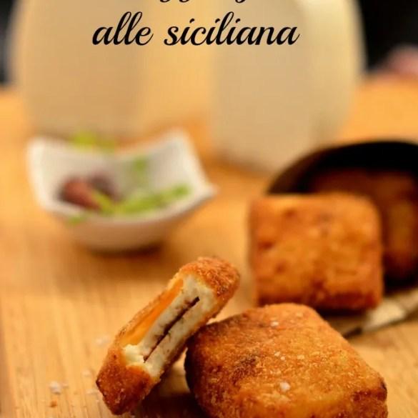 Gebratener Käse Alla siciliana