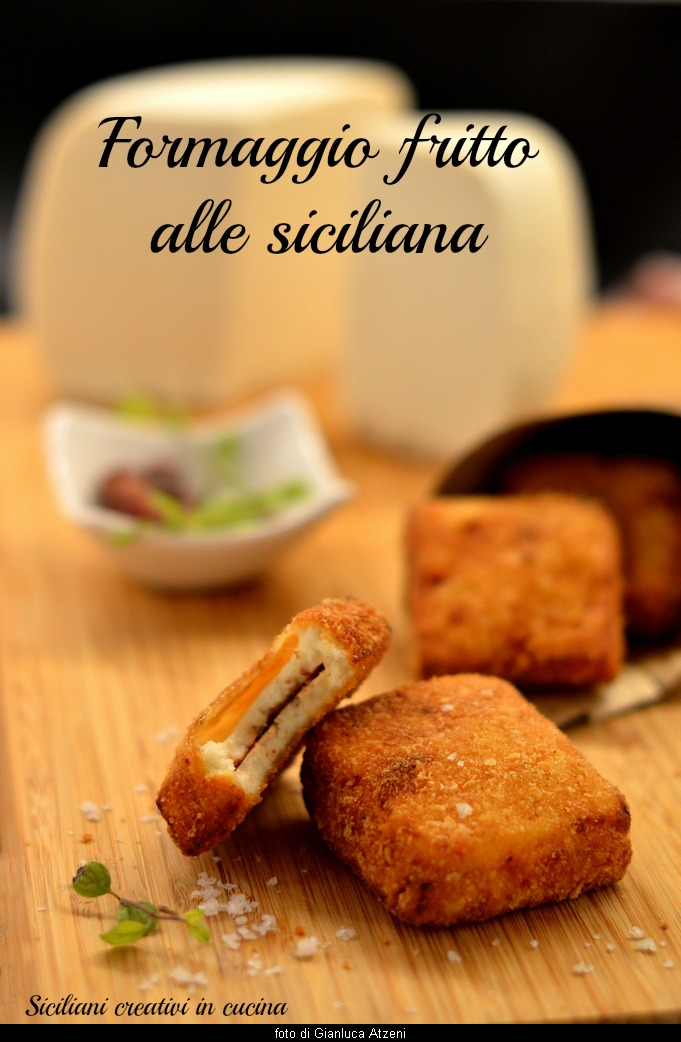 Fried cheese alla siciliana
