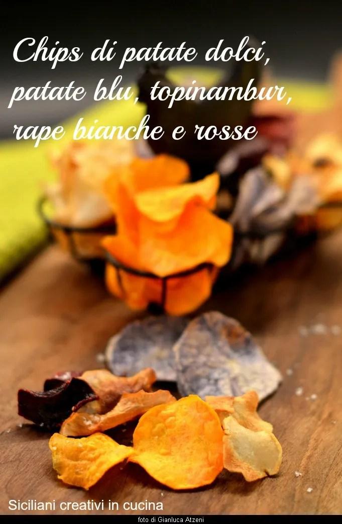 Kartoffel-chips, Vergewaltigung, Topinambur: perfette per l'aperitivo vegano