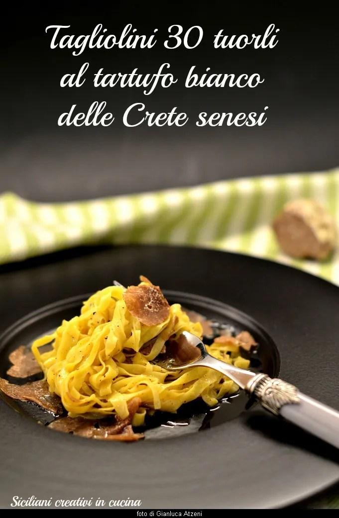 Tagliolini with white truffle egg yolks 30