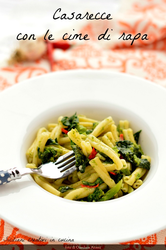 Casarecce pasta with rapini