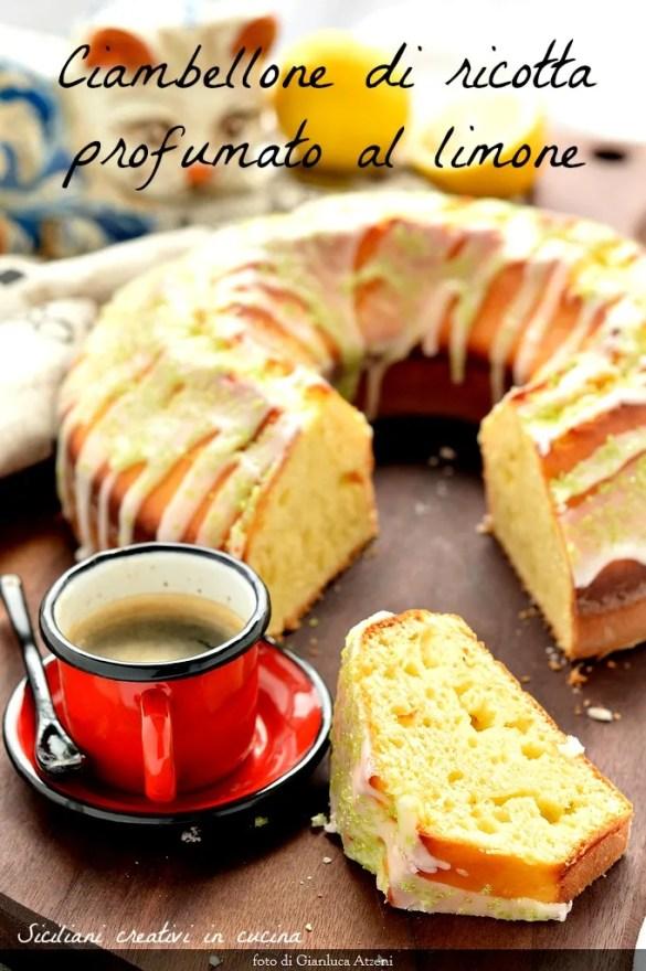 Ricotta cake flavored with lemon