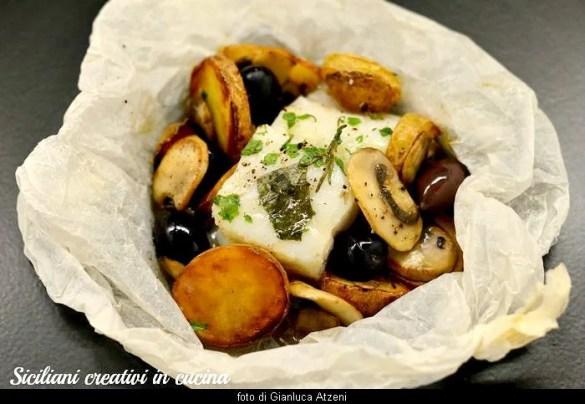 Cabillaud cuit au four avec pommes de terre
