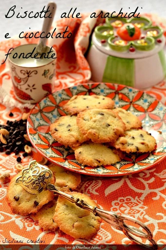 Americana galletas de maní y chocolate