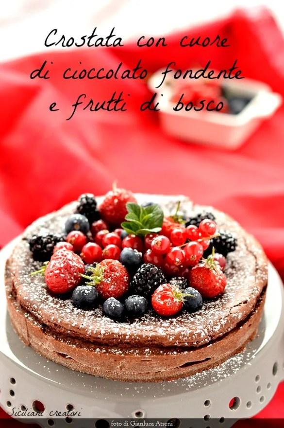 Tart dark chocolate and berries