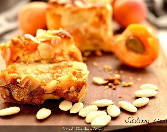 Torta soffice alle albicocche fresche e mandorle