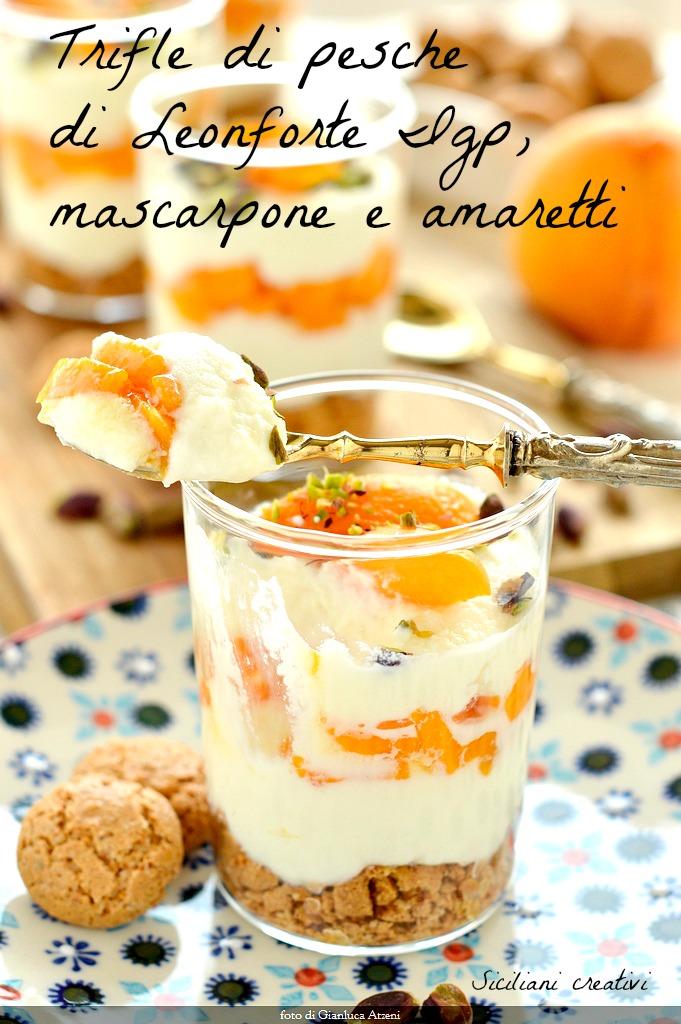 Trifle Mascarpone Pfirsiche und Amaretti