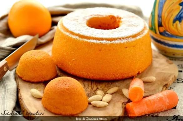 Torta di carote, mandorle e arance
