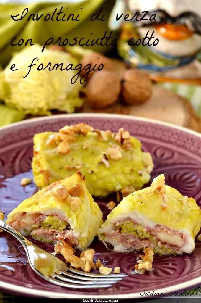 Cigares au chou, fromage jambon et fontina