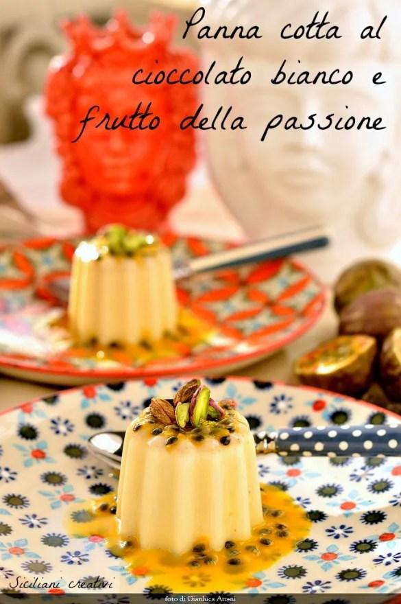 Panna cotta de chocolat blanc: délicieux et facile à préparer, vous pouvez pimenter avec la vanille et fève tonka. Le fruit de la passion qui donne note aigre qui le rend tentant.