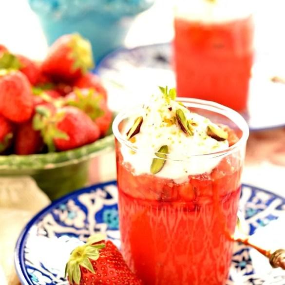 Gelo di fragole e panna: ricetta siciliana facilissima