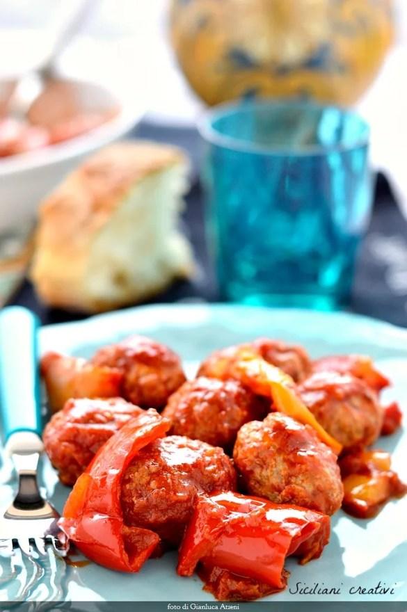 Boulettes de viande au poivre aigre-doux siciliens