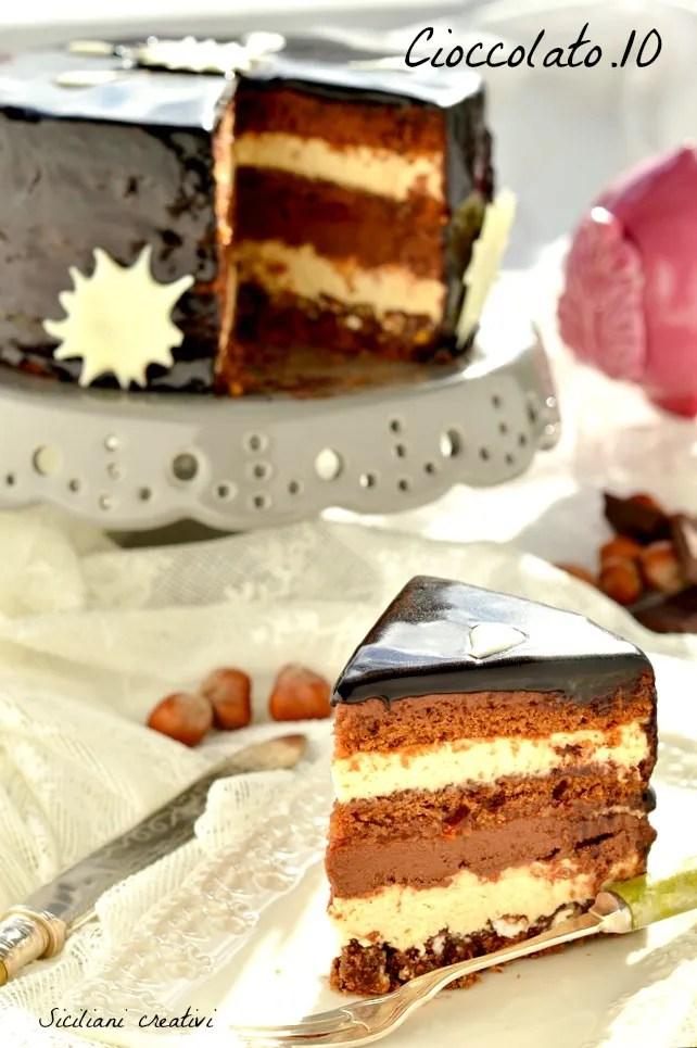 Gâteau au chocolat de couche (Setteveli)