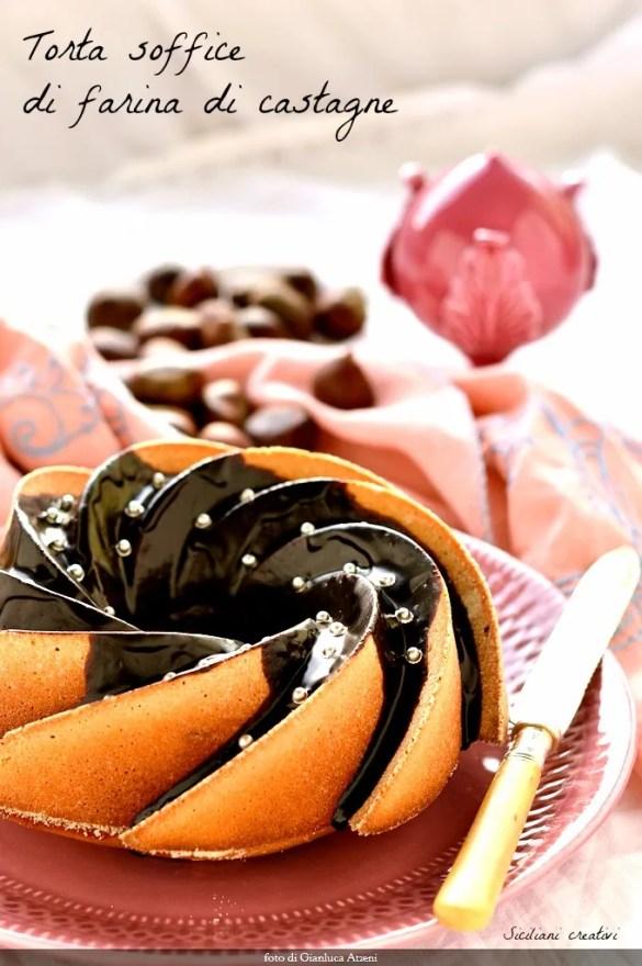 栗の粉のふわふわケーキ