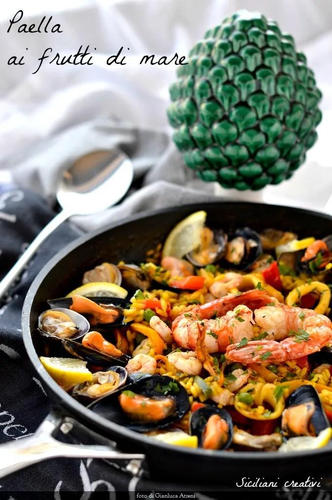 Paella Ai Frutti Di Mare Paella De Mariscos Siciliani Creativi