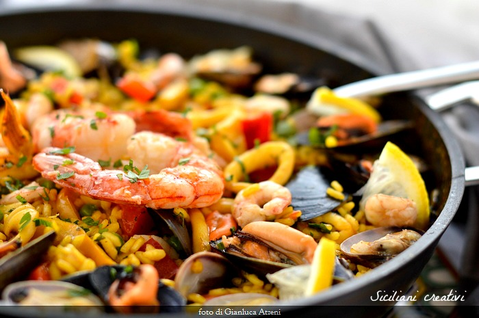 Seafood Paella, original recipe